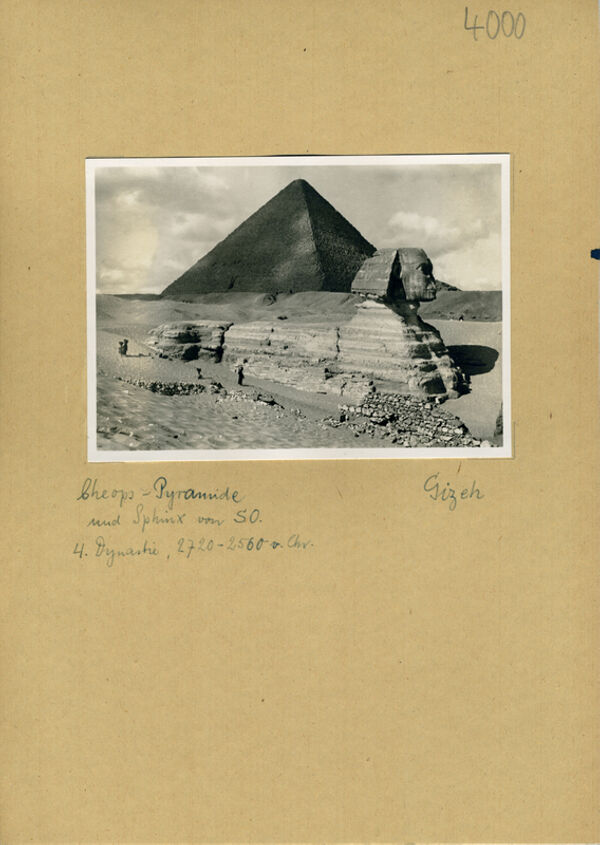 translation missing: de.preview Cheopspyramide und Sphinx von Südosten